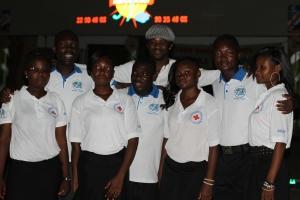 Yhteistyöjärjestö APACIC:in jäseniä puheenjohtajan kanssa